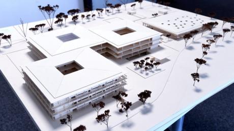 Das Modell des neuen Paul-Klee-Gymnasium in  Gersthofen.