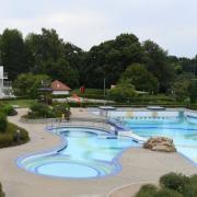 Jetzt ist es wieder leer in der Gerfriedswelle in Gersthofen. Vergangene Woche endete hier die Freibadsaison.