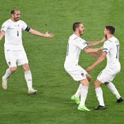 Freude bei den Italienern nach dem ersten Treffer.