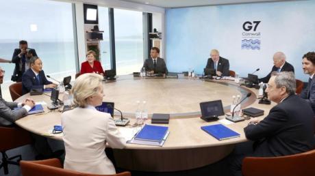 Die Staats- und Regierungschefs der G7 treffen sich im britischen Carbis Bay.