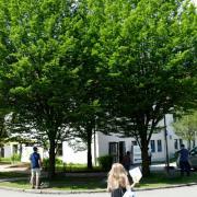 Teilweise soll die Warteschlange vor dem Bobinger Impfzentrum 150 Meter lang gewesen sein. Immerhin wurden im Wartebereich Sonnenschirme aufgestellt.