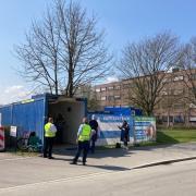Das Corona-Impfzentrum in Neu-Ulm auf dem Gelände der Nuvisan-Forschungsklinik hat in den Osterferien umgebaut.