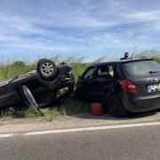 Zu einem Unfall mit drei Leichtverletzten kam es  zwischen Mering und Hörmannsberg.