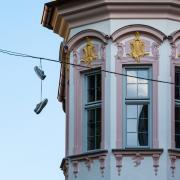 Das Fenster zum Schuh.