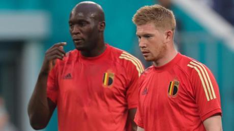 Haben mit Belgien im Achtelfinale Portugal vor der Brust: Romelu Lukaku und Kevin De Bruyne (r).