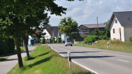 Auch am südlichen Ortseingang von Oberschönegg überschreiten Verkehrsteilnehmer häufig die zulässige Höchstgeschwindigkeit.