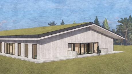 So sieht der Planentwurf für Ziemetshausens zweite Kindertagesstätte aus: ein lichtdurchfluteter Bau mit Dachbegrünung.