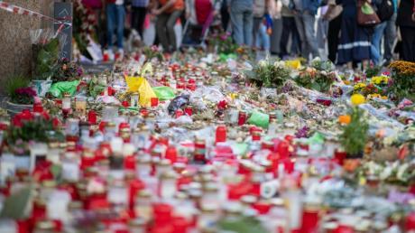 In Würzburg wurde der Opfer des Messerangriff gedacht.