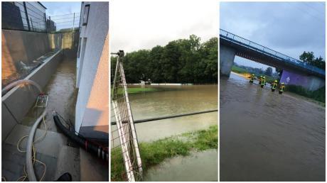 In Ulm und dem Landkreis Neu-Ulm kam es nach dem Starkregen zu Überschwemmungen.