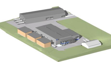 Die Firma Fahrsilobau Müller errichtet in Neuburg einen neuen Betriebssitz auf einer Fläche von rund 20.500 Quadratmetern.
