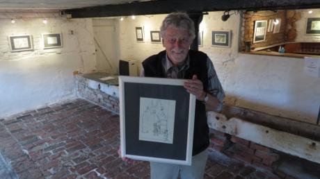 Michael Geyer zeigt seine Gedankenwelten auf der Thalfinger Insel.
