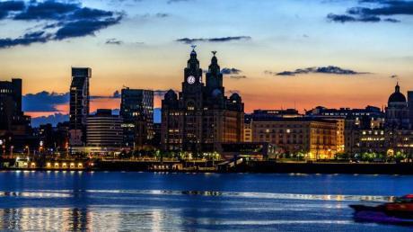 Das Liverpooler Hafenviertel.