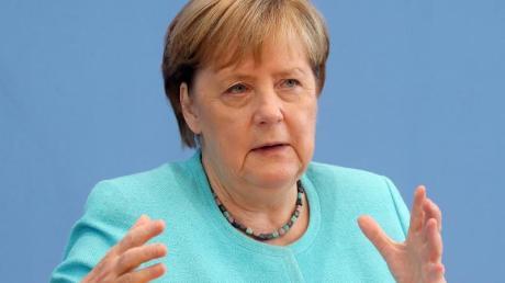 Bundeskanzlerin Angela Merkel (CDU) in der Bundespressekonferenz.