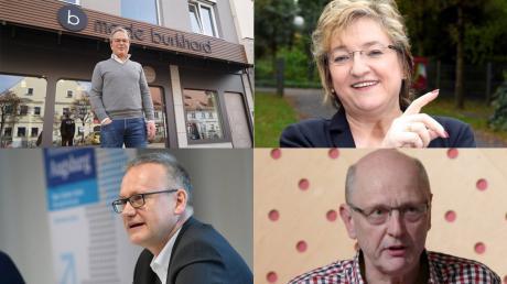 Wie ist die Lage in der Wirtschaft? Von links oben: Robert Burkhard, Elsa Koller-Knedlik, Jens Walter und Fritz Kühner.