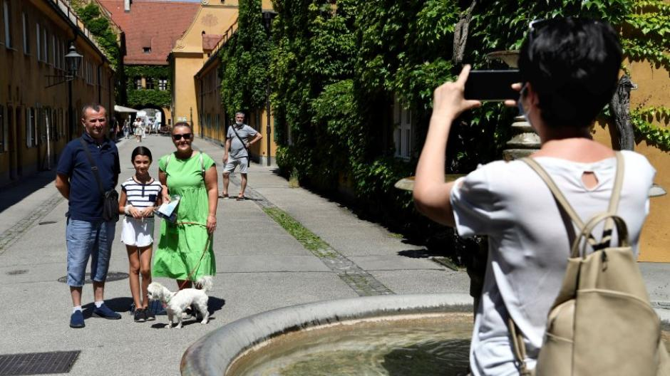 In die Fuggerei kommen seit Corona deutlich weniger Besucher. Insgesamt sind die Zahlen der Besucher in Augsburg zurückgegangen.