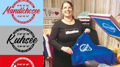 Beatrix Engeln hatte ab März 2020 mit finanziellen Einbußen zu kämpfen und überlegte sich als Corona-Projekt, T-Shirts für vier Seen zu kreieren. Jetzt soll es schon bald das T-Shirt Mandichosee geben, wenn ein Vertriebspartner gefunden ist.