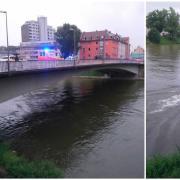 Rettungskräfte suchten die Donau in Ulm und Neu-Ulm ab.