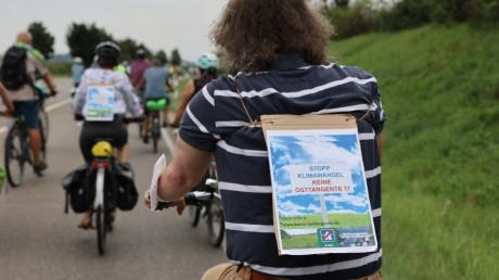 Vor kurzem gab es bereits eine Fahrraddemo gegen die Osttangente in Friedberg.