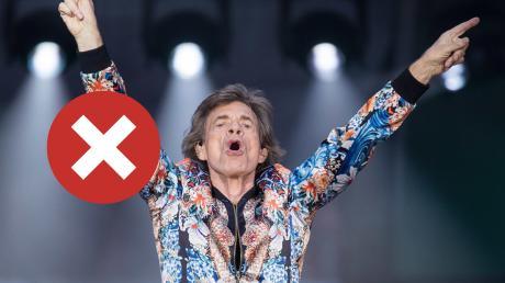 Bye, bye, Mick? Nein, der Jagger an der Spitze der Stones sollte nicht den Abschied wählen.