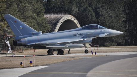Neuburger Eurofighter waren vor einigen Jahren schon einmal temporär auf dem Nato-Flugplatz Lechfeld stationiert.