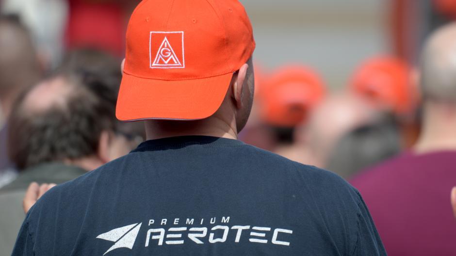 Die Mitarbeiterinnen und Mitarbeiter von Premium Aerotec sind erfahren, was Proteste angeht, So haben sie schon 2018 gegen einen Stellenabbau demonstriert, wie unser Bild zeigt.