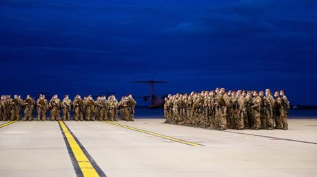 Das Ende einer Mission: Soldaten am vergangenen Freitag bei einem Appell auf dem niedersächsischen Stützpunkt Wunstorf nach ihrer Rückkehr aus Afghanistan.