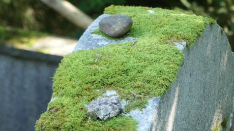 Nach jüdischer Tradition legen Besucher Steine auf die Gräber. Auch in Altenstadt sind die Menschen, die hier lebten, nicht vergessen.