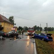 Die Staatsstraße 2018 war am Donnerstagmorgen wegen eines Unfalls gesperrt.