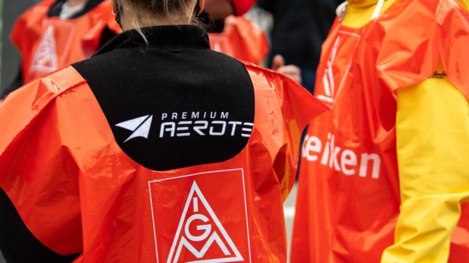 Die Gewerkschaft IG Metall hat die Beschäftigten von Premium Aerotec zum Warnstreik aufgerufen.