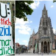 Klimaaktivisten wollen aufs Ulmer Münster klettern. Scheitert nun die Aktion?