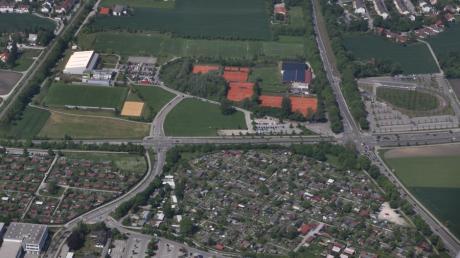 Wie stark zerschneidet die abgespeckte Osttangente künftig Friedberg? Schon heute bildet der Chippenham-Ring eine Barriere zwischen der Kernstadt und Friedberg-West.