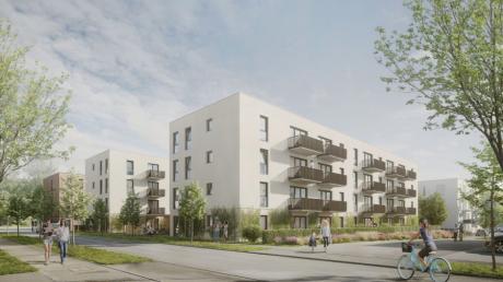 So sollen die beiden Häuser im Baugebiet Lettenwald in Ulm-Böfingen später aussehen.