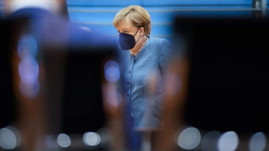 Bundeskanzlerin Angela Merkel bei ihrer letzten Kabinettssitzung der Bundesregierung vor der Bundestagswahl im Kanzleramt.