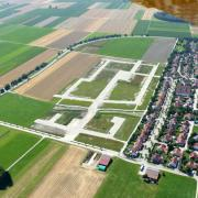 So sieht das neue Baugebiet im Süden von Schwabmünchen aus der Luft aus.