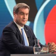 Markus Söder ist nicht glücklich mit dem Wahlergebnis.