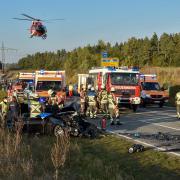 Ein schwerer Unfall hat sich auf der B17 südlich von Landsberg ereignet.