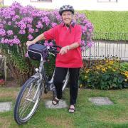 Mit diesem Fahrrad hat Maja Schmucker aus Scheppach in den vergangenen 16 Jahren fast 100.000 Kilometer zurückgelegt - wohlgemerkt - ohne elektrischen Antrieb.