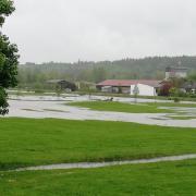 Starkregen macht der Gemeinde Deisenhausen immer wieder zu schaffen - so wie auf unserem Bild durch Überschwemmungen der Günz, aber auch an Wegen und Gräben im Gemeindegebiet.