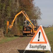 Auch in diesem Jahr führt das Unternehmen LEW Wasserkraft wieder Baumpflegearbeiten entlang der Flüsse durch.
