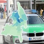 Die Zahl der Straftaten in Augsburg variiert zwischen den Stadtteilen.
