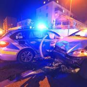 BY - Neu-Ulm Streifenwagen auf Einsatzfahrt in Unfall verwickelt - ohne Verletzte