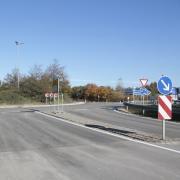 Die Baustelle am Kreisverkehr an der Anschlussstelle Dasing Süd der A8 sind abgeschlossen.