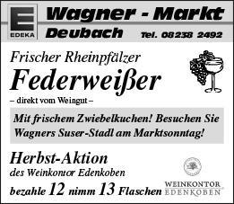 15. September: Herbstmarkt in Diedorf