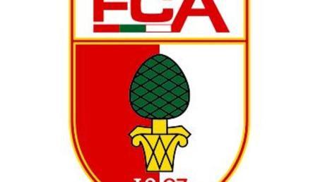 Das Logo des Fußball-Erstligisten FC Augsburg. Foto: