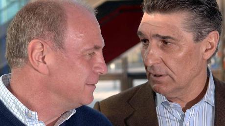 Uli Hoeneß (l) und Rudi Assauer hatten ein gutes Verhältnis. Foto/Archiv (2005): Franz-Peter Tschauner