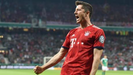 Bayern-Stürmer Robert Lewandowski erzielte in dieser Bundesligasaison bisher 22 Tore. Foto: Carmen Jaspersen