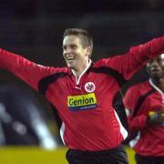 Der damalige Spieler von Eintracht Frankfurt: Jan-Aage Fjörtoft. Foto: Oliver Berg
