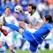 Der VfL Wolfsburg und 1899 Hoffenheim bestreiten das erste Montagsspiel der Saison 2019/20. Foto: Uwe Anspach