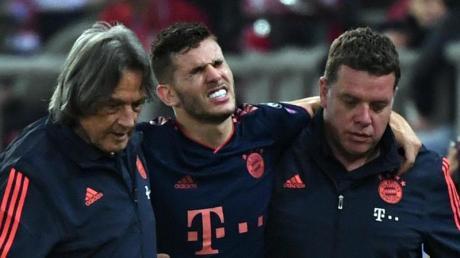 Musste sich einer Operation unterziehen: Bayern-Verteidiger Luca Hernández. Foto: Sven Hoppe/dpa