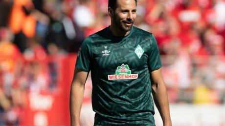 Hat Nachholbedarf: Werder-Routinier Claudio Pizarro. Foto: Soeren Stache/zb/dpa